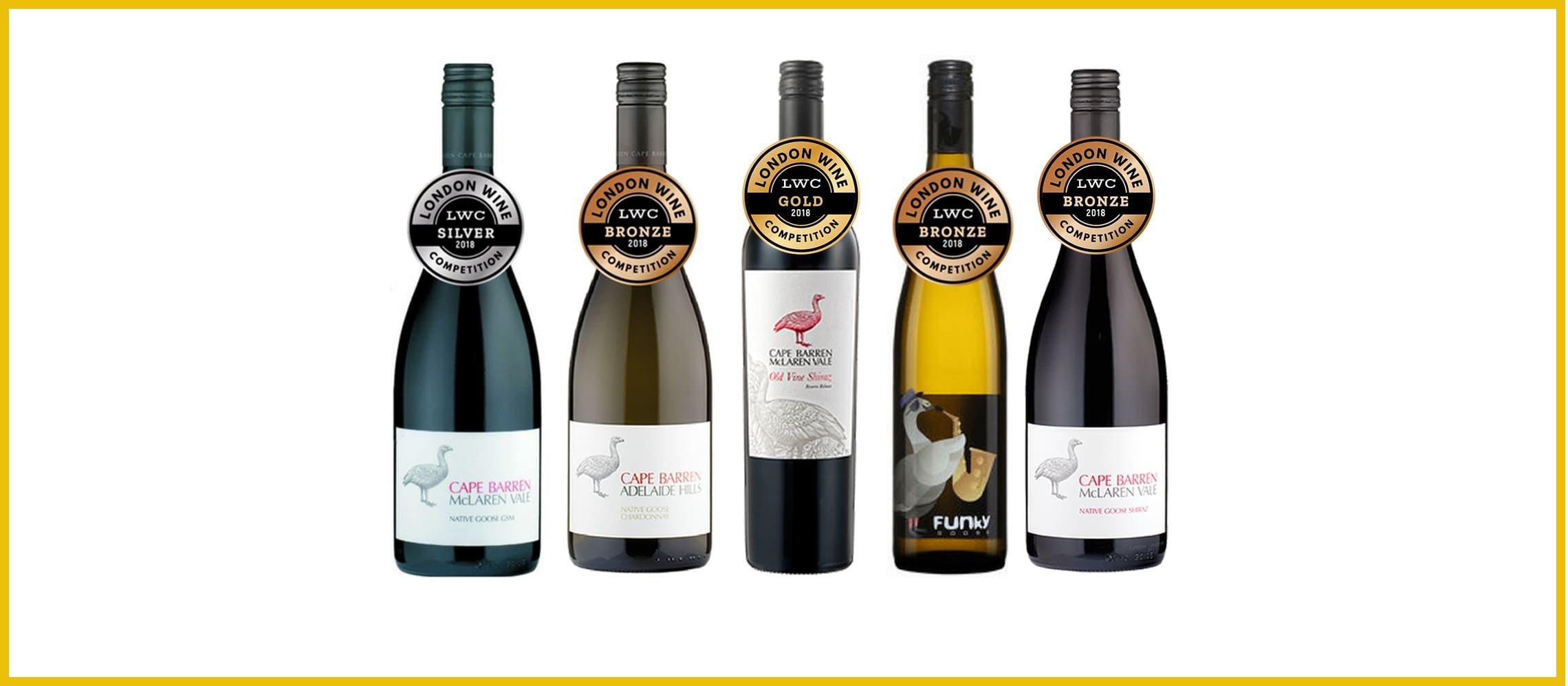 Photo for: Five Awards for Cape Barren Wines at a Wine Competition