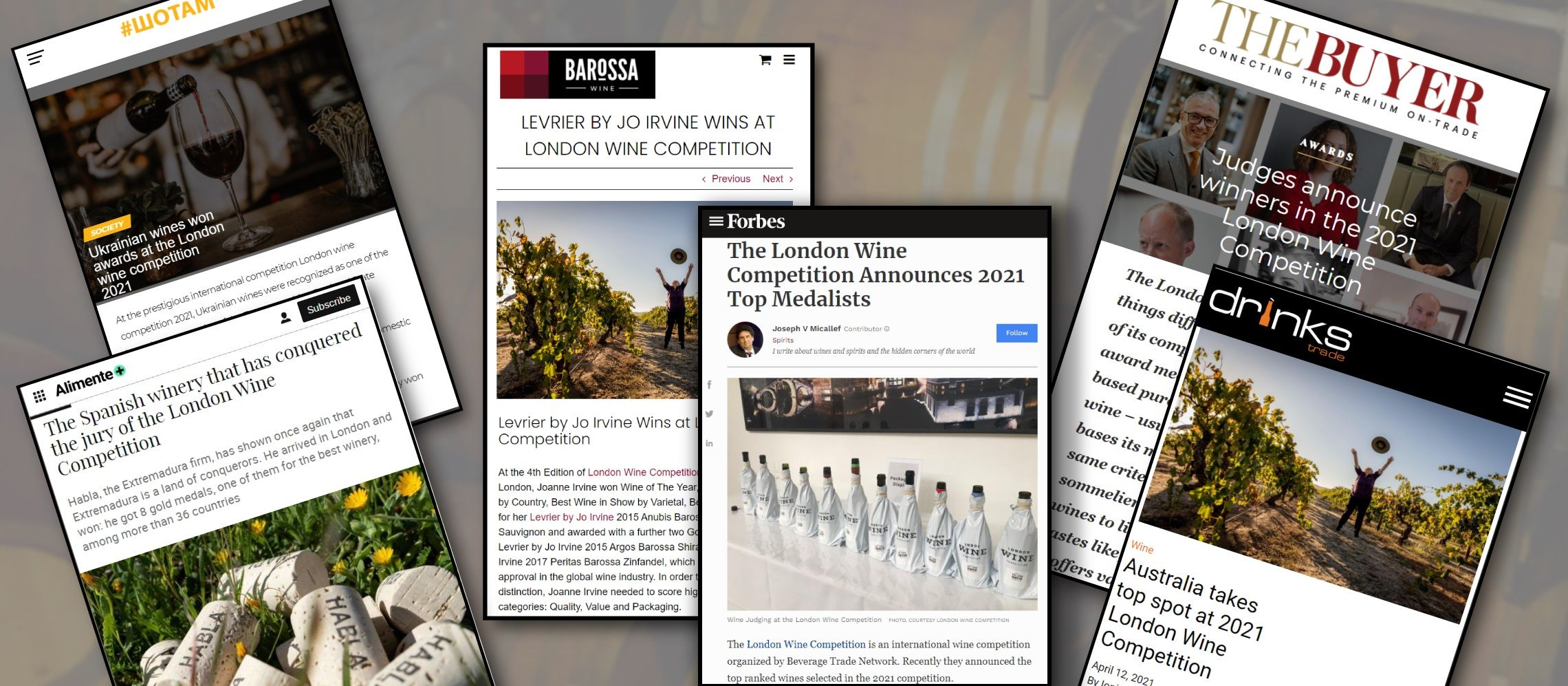 Photo for: London Wine Competition Winners Press Coverage