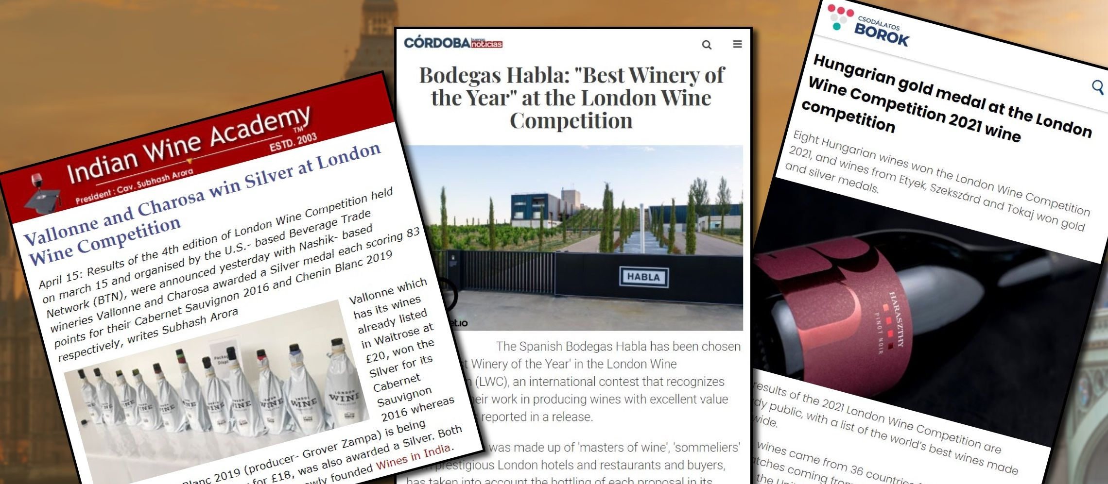Photo for: Extensive Media Coverage for London Wine Competition Winners